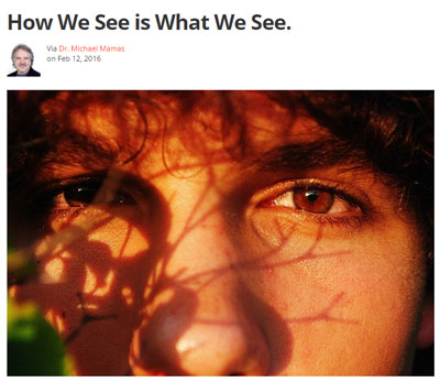 How We See is What We See, by Michael Mamas