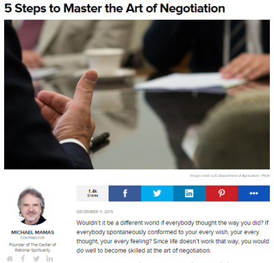 Master the Art of Negotiation by Michael Mamas