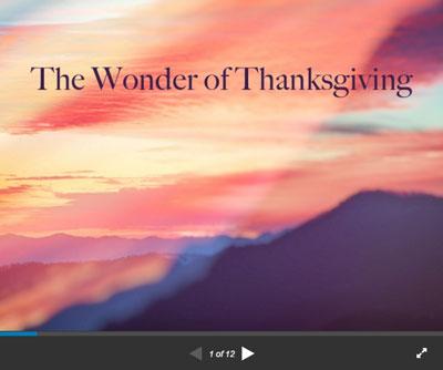 The Wonder of Thanksgiving - SlideShare